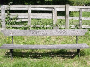 Former resident David Watson made the seat to commemorate the Millennium (Ann Wilson, 2005)