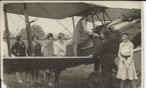 Swinton Air Day 29.05.1930. Rene (on the wing) and Nip Potter beside Captain